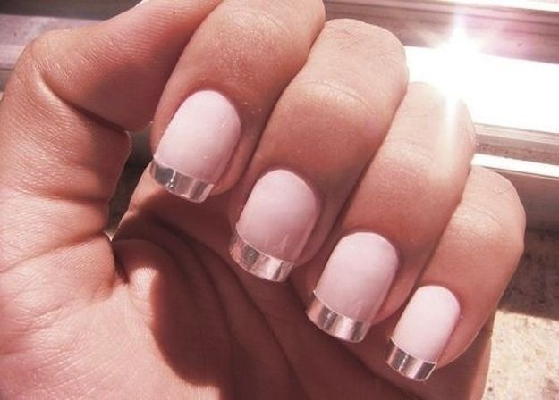 Metalic French Manicure- Nailed It! 12 Nail Art Designs for Your Wedding Day