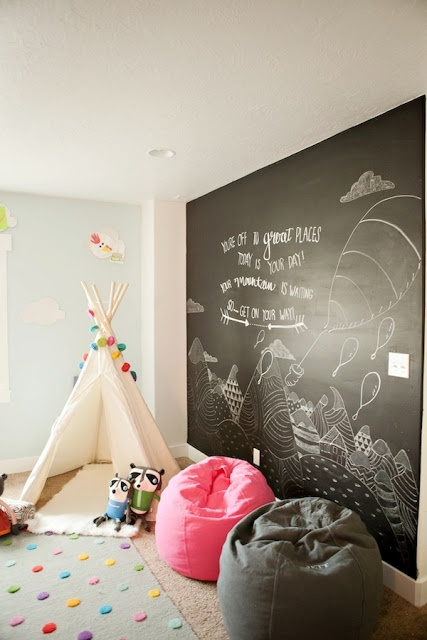 theo's room already has a chalkboard wall that his crib is up against. i'm thinking we can switch his crib to the other wall and the cube bookshelf to the chalkboard wall...maybbbeeee