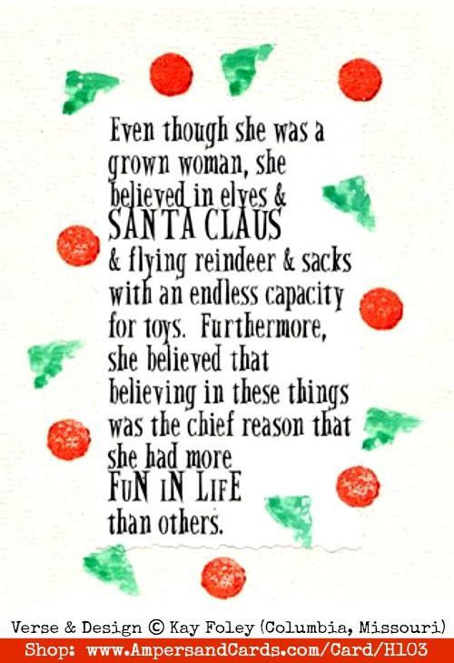 I Believe In Santa Quotes QuotesGram