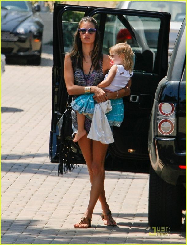 Alessandra Ambrosio wearing One Teaspoon Original Trash Whore Shorts CC Skye Feather Cuff in Gold CC Skye Leight Luxe Fringe Bag Salvatore Ferragamo Hobo Leather Sandals ISABEL MARANT Yda printed silk-chiffon tank Ray-ban 4171 Erika Round Matte Sunglasses Isabel Marant Black Zutti Belt  At the mall August 21 2011