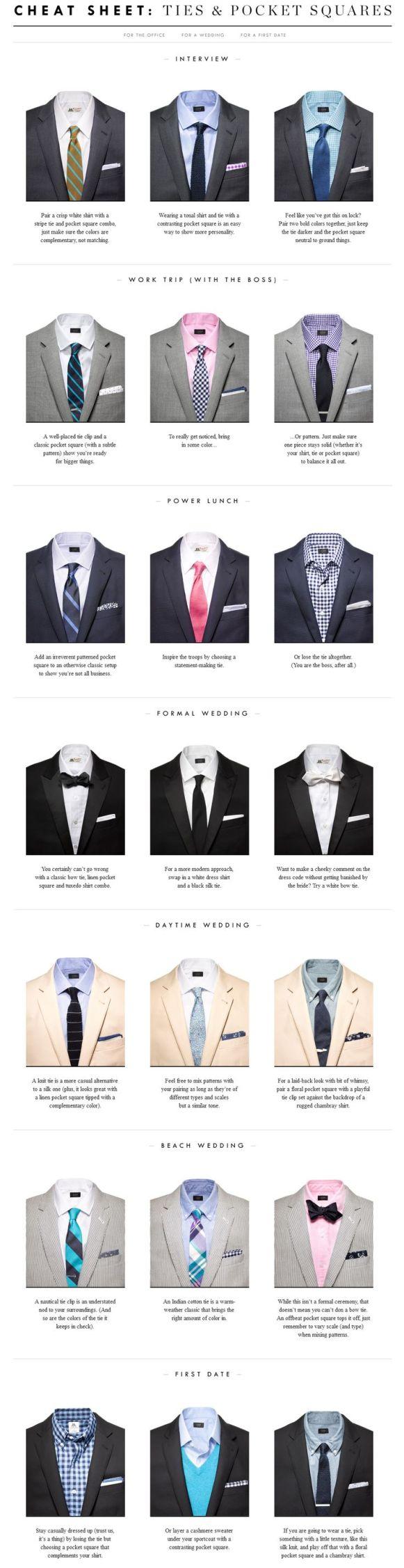 assortir chemise, cravate et pochette