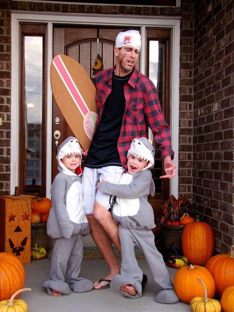 #diy sharks + surfer halloween costume