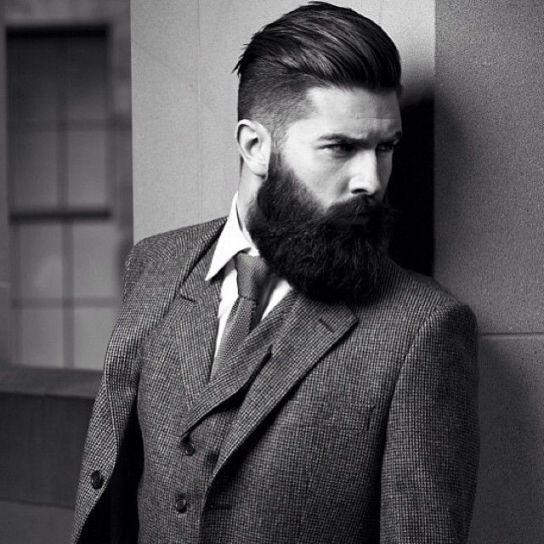 Barbe de hipster moderne