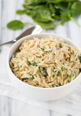 Parmesan and Spinach Orzo   Cooking Classy