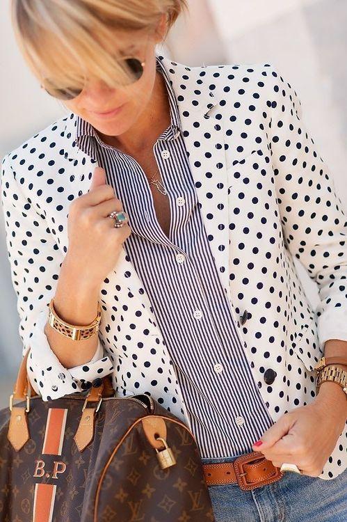 dots stripes Louis Vuitton bag