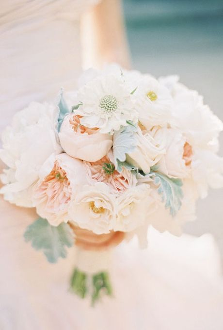 Pastel Peach Peony Wedding Bouquet - peonies arriving Mid April at www.peonyhotline.com...can't wait for spring!