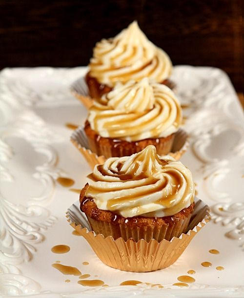 Honey whiskey cupcakes with a bourbon drizzle