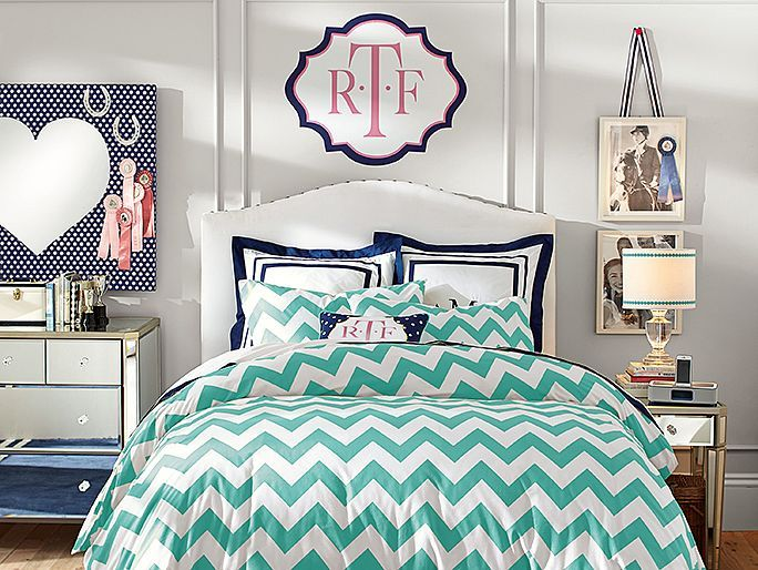 PBteen Raleigh Chevron Pool Bedroom on pbteen.com