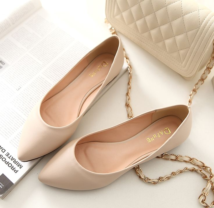 2014 spring new beauty Daphne singles shoes flat shoes casual flat shoes with pointed scoop