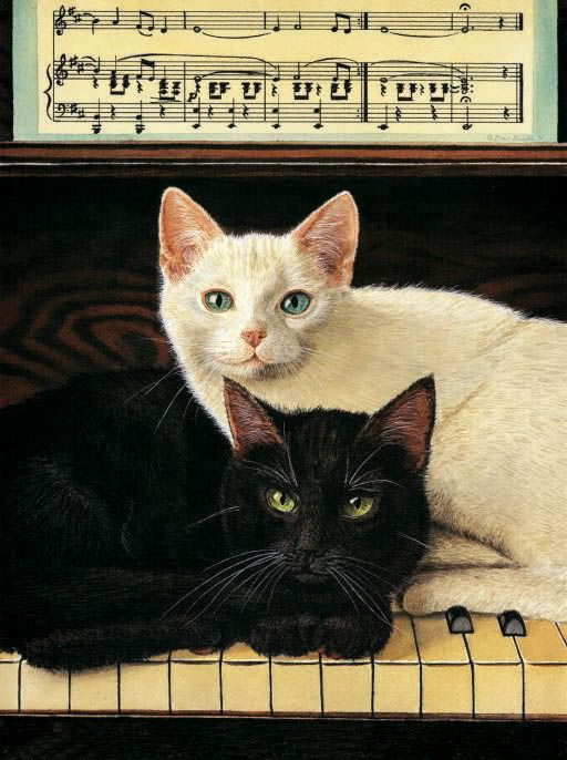 Ebony and Ivory...