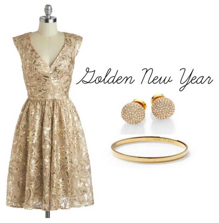 Golden New Years Outfit!