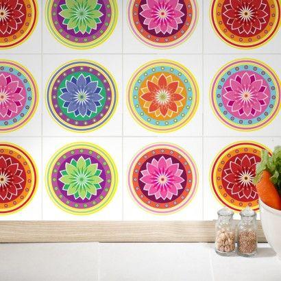 Self Adhesive Wall Tiles Mandalas