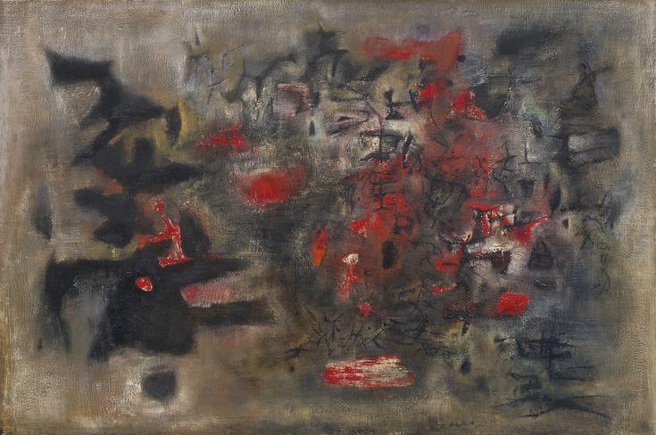 Zao Wou-Ki (Zhao Wuji), 1920-2013, DEBUT D'OCTOBRE (BEGINNING OF OCTOBER)