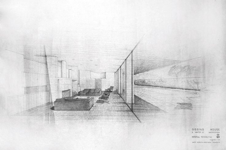 Gissing House by Harry Seidler - Architect's sketch (Modern House)