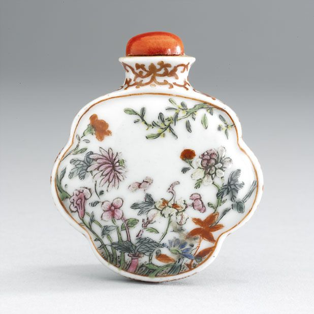 Snuff bottle 1750 - 1900 AD Qing Dynasty China; Asia