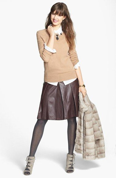 Halogen® Long Sleeve Cashmere Sweater (Regular & Petite) | Nordstrom
