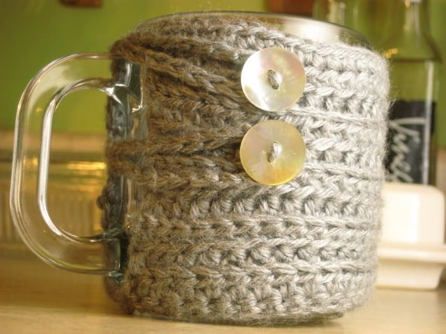 crocheted mug warmers =)