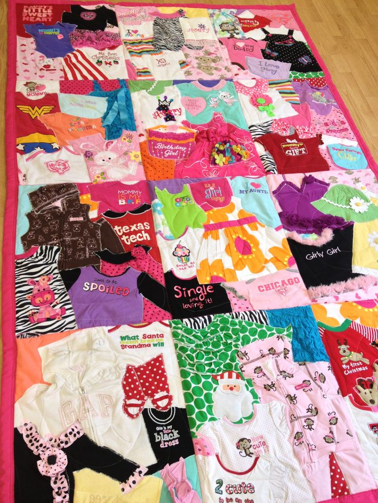 Image Result For How To Make A Quilt Out Of Old Baby Clothes