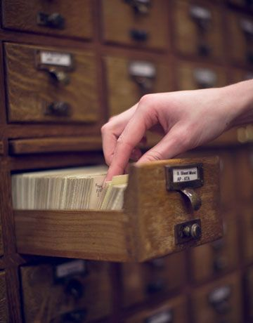 Library card catalogs