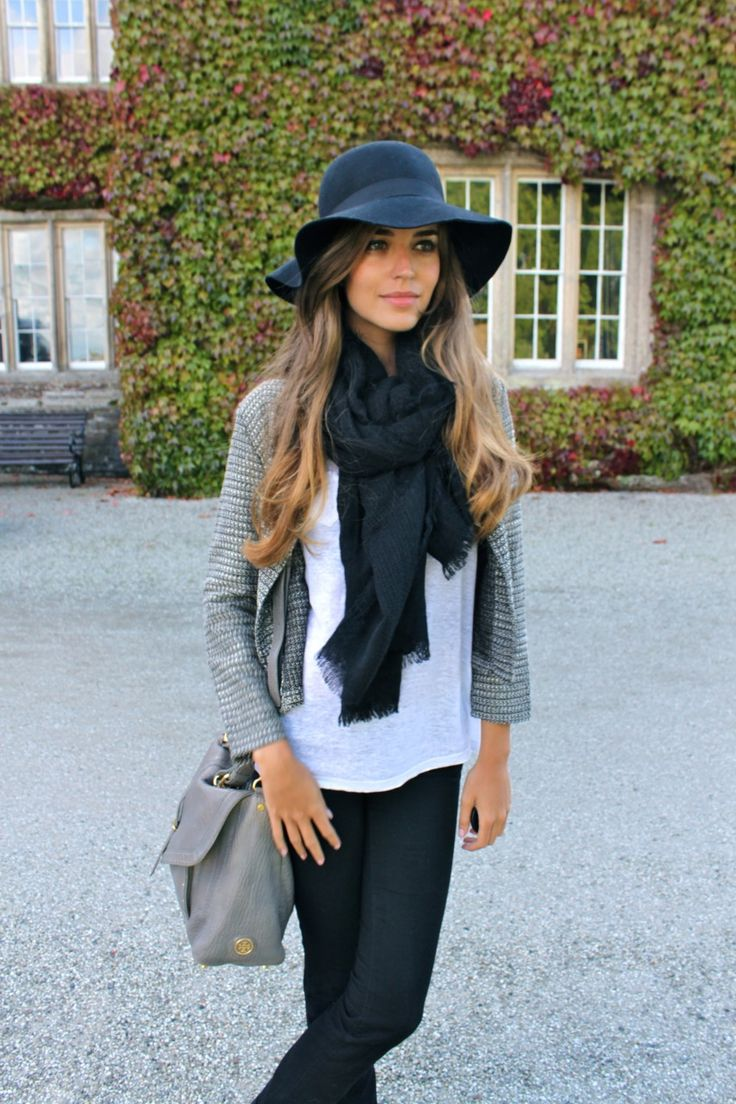 Simple and classic. Love the hat!