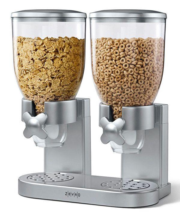Look at this #zulilyfind! ZEVRO Silver Dry Foods Dual Dispenser by ZEVRO #zulilyfinds