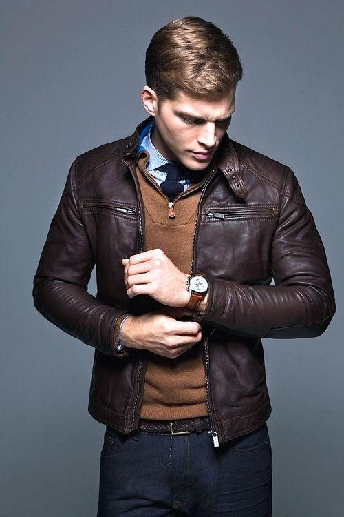 Veste en cuir homme et look tendance