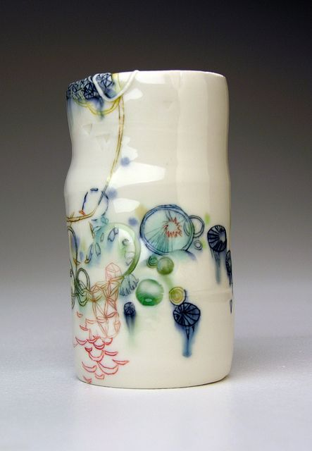 Michelle Summers - pottery - painterly - inspiration