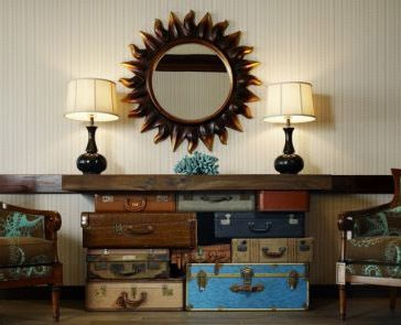 20 DIY Vintage Suitcase Decorating Ideas!   Since our life is all about travel, this is perfect!