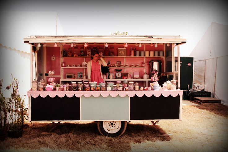The Travelling Tea Emporium - extremely cute vintage style trailer.