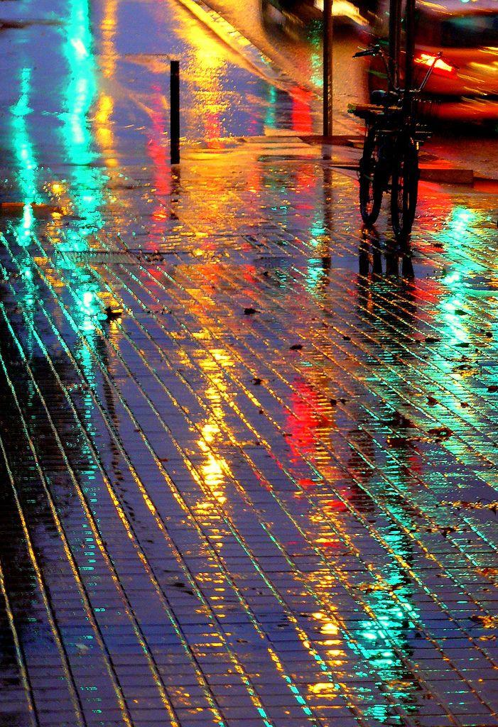 Rain Reflections, Barcelona, Spain  photo by Jordi Meneses S.