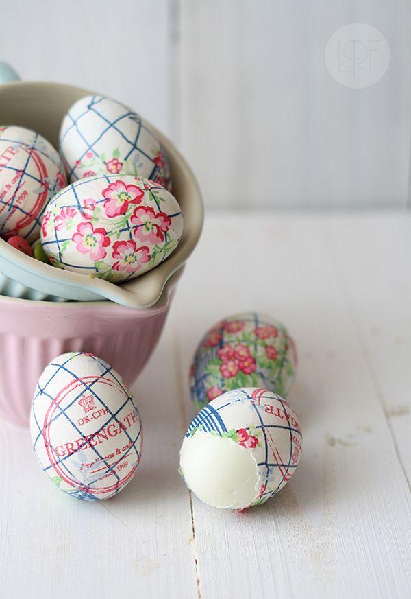 decorar huevos pascua decoupage