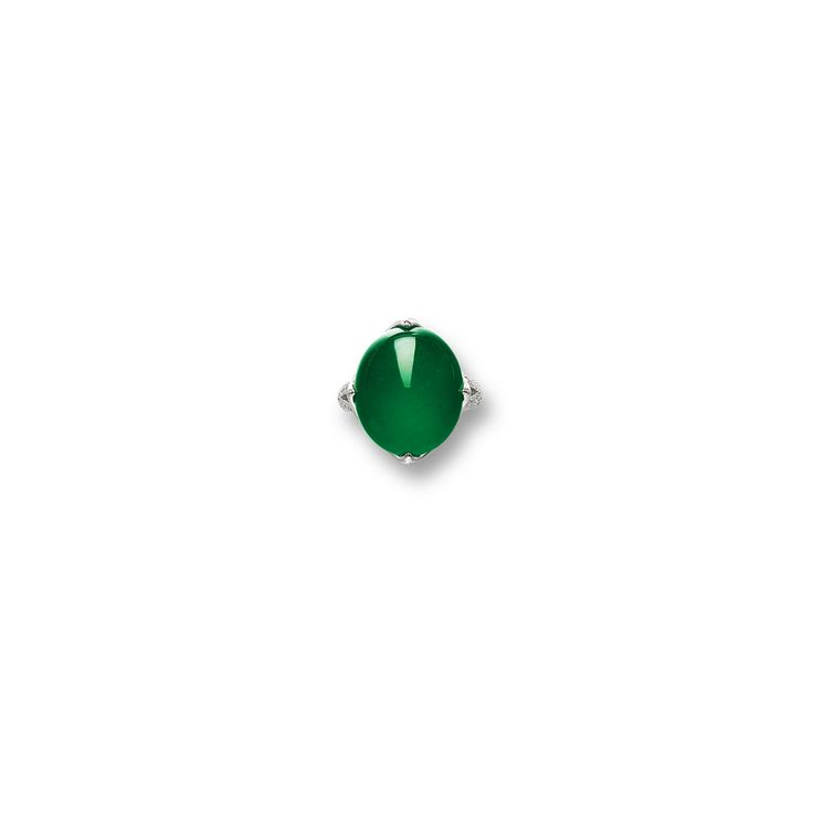 Fine Jadeite and Diamond Ring | Lot | Sotheby's