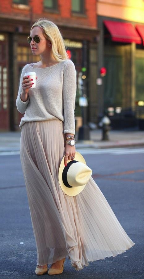 Perfectly pleated! Just got a skirt similar from a designer sample sale in London!!! So pumped to wear an outfit like this soon!
