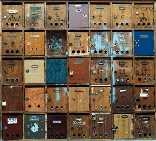 wordslessspoken:    Mailboxes by mbartstra on Flickr.    (via huamao)