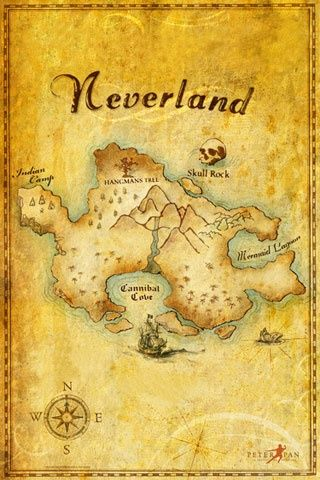 map of Neverland