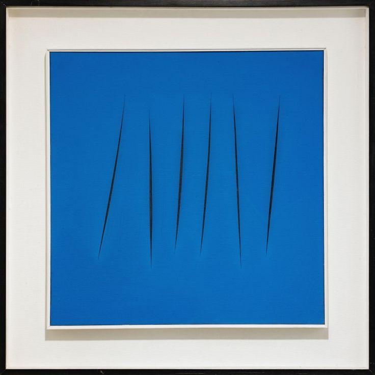Concetto Spaziale, 1968 - Lucio Fontana (1899-1968) Aquarelle sur toile © Robilant + Voena. Biennale des Antiquaires 2014, Paris