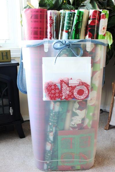gift wrap center + Martha coupon - Organizing Junkie