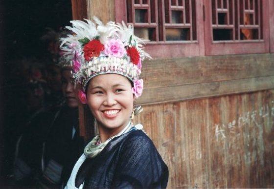 Il Sorriso Di Una ragazza cinese della popolazione dei Dong.  # Cina # 8marzo