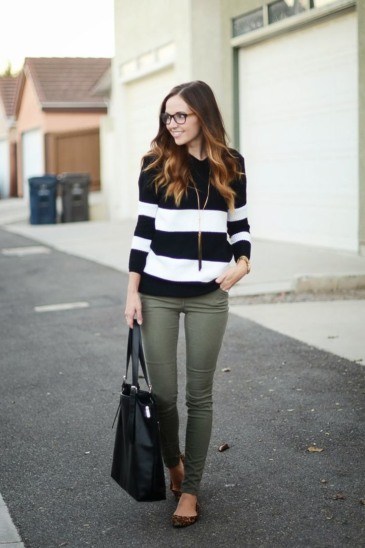 stripes & army green