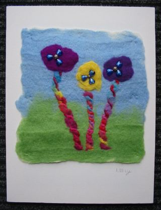 Finished Felt Picture