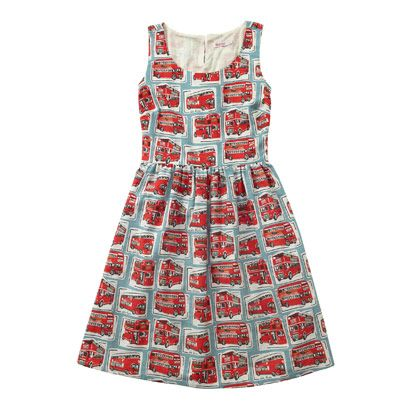 London Buses Sleeveless Jacquard Dress £65.00