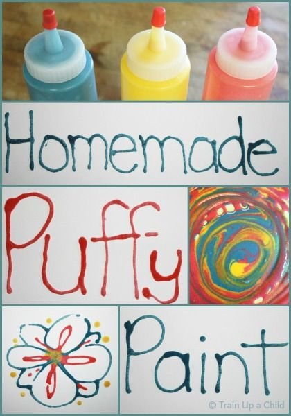 Train Up a Child: Homemade Puffy Paint with 3 Simple Ingredients