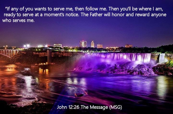 John 12.26 The Message (MSG)