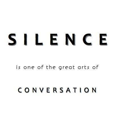 Being Comfortable In Silence (1/2)