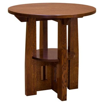Mission Round End Table Arts Amp Crafts Style Pinterest