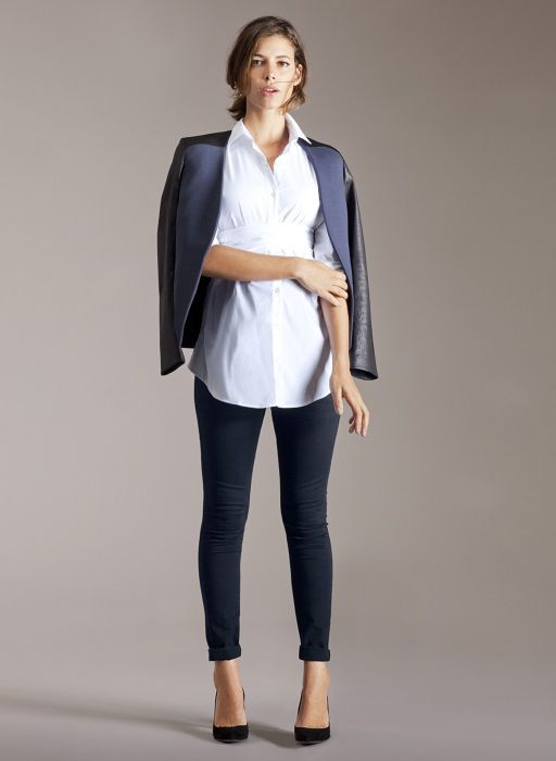 Zadie Skinny Maternity Jeans in Blue | Isabella Oliver | Maternity Capsule Collection