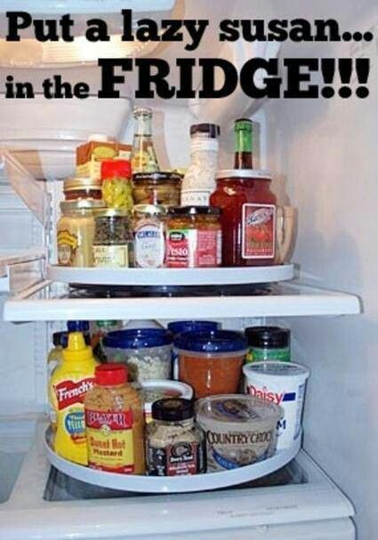 This is a pretty clever idea to make sure nothing gets lost in the back of the refrigerator.