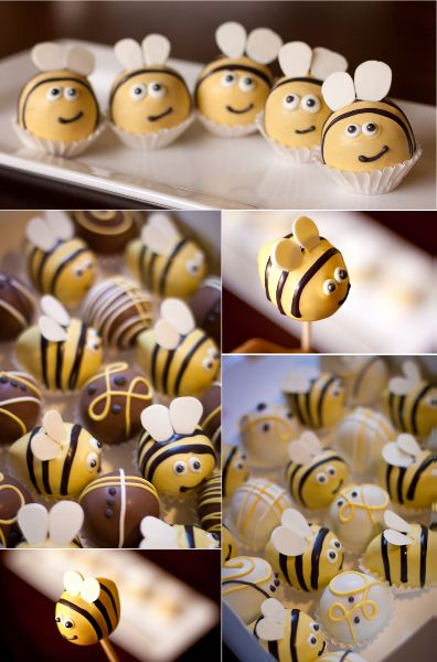 Bee cake balls. Bzzzzz...