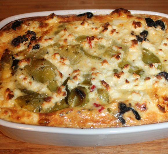 Mediterraner Lauch-Oliven-Kuchen