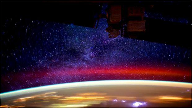 La notte vista dalla Stazione Spaziale Internazionale